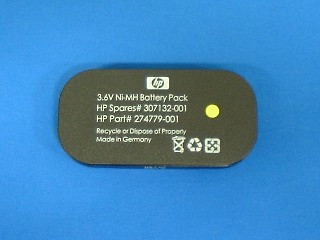 HPE 307132-001 3.6Volt 500mAh NiMH Battery (Battery Only) for BBWC Option on Smart Array Controllers 642/642 (1 Year Warranty)