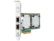 HPE 656596-B21 Dual Port 10Gbps Ethernet PCI Express 2.0 x8 530T Network Adapter for ProLiant Generation9 Generation10 and Apollo Generation9 Generation10 Servers