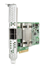 HPE H241 726911-B21 12Gbps (SAS-12Gbps / SATA-6Gbps) Dual Ports PCIe 3.0 x8 Low Profile External Smart Host Bus Adapter for ProLiant Servers (1 Year Warranty)