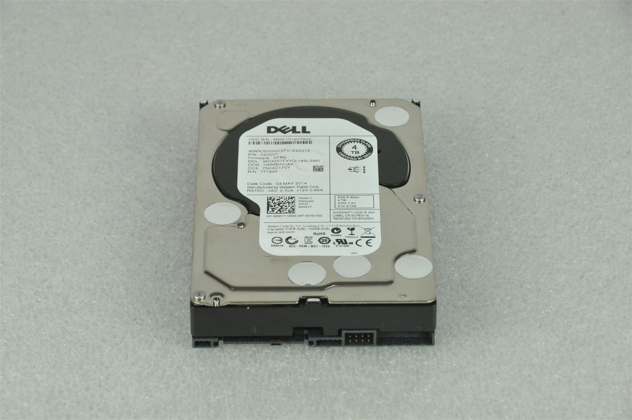 Dell 400-ADJW 4TB 7200RPM 3 5inch SAS-6Gbps Hot-Swap HDD for Poweredge