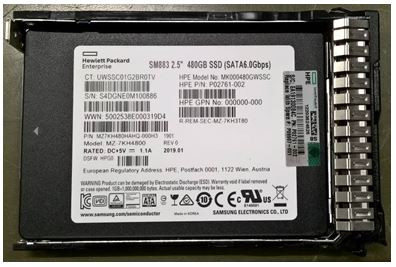 HPE P09907-001 480GB 2.5inch SFF MLC Digitally Signed Firmware SATA-6Gbps Smart Carrier Mixed Use Solid State Drive for ProLiant Gen9 Gen10 Server (3 Years Warranty)