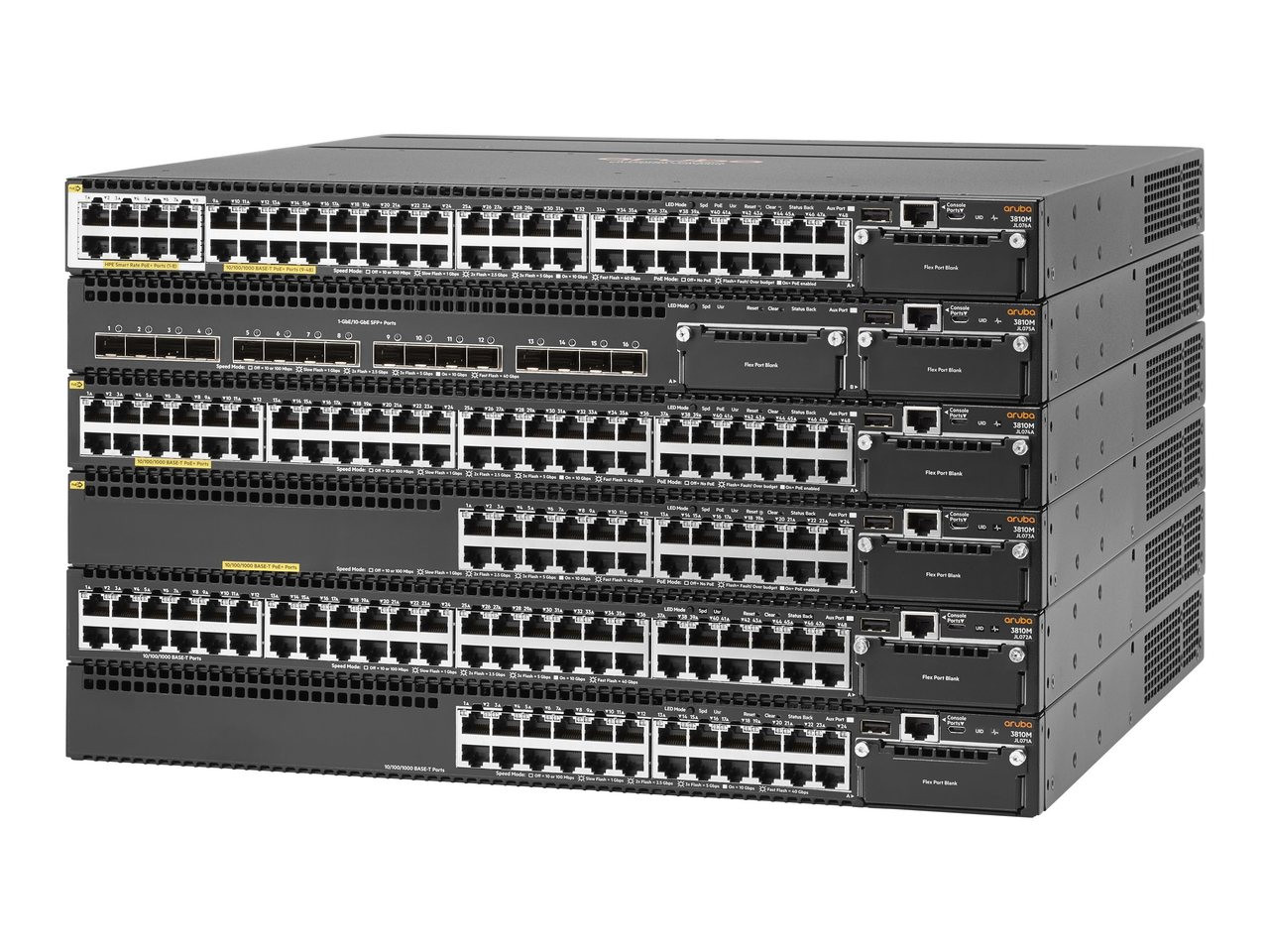 HPE JL075A Aruba 3810M 16SFP+ 1U 16-Port 2-Slot Switch Module