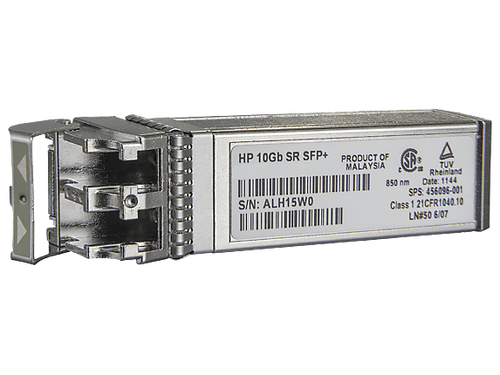 HPE 455885-001 c-Class 10Gb SFP+ SR Transceiver Module for BladeSystem and ProLiant Gen7 Gen8 Gen9 Servers (3 Years Warranty)