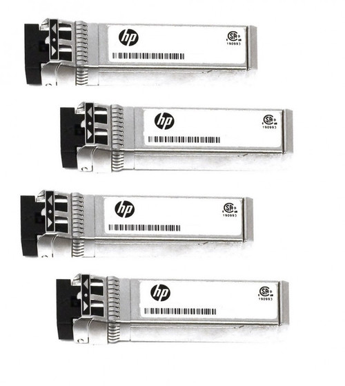 HPE 876144-001 10Gbps Short Range iSCSI SFP+ 4-pack Transceiver Module for Modular Smart Array 2040 SAN Storage (3 Years Warranty)