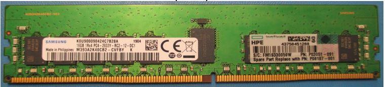 HPE P06187-001 16GB 1Rx4 288-Pin 2933MHz CAS-21 Reg Smart DIMM Memory