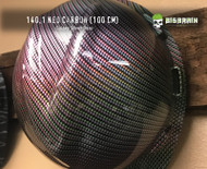 Neo Carbon Rainbow Carbon Chrome Hydrographic Film Pattern Big Brain Graphics Dip Film USA Trusted Seller Galaxy Silver Base on Hard hat