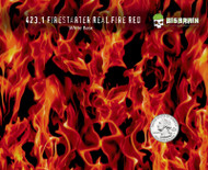 Firestarter Real Flames Red Fire Flaming Hydrographics Film Hydrographic Sale Big Brain Graphics Buy Film Yeti White Base Quarter Reference