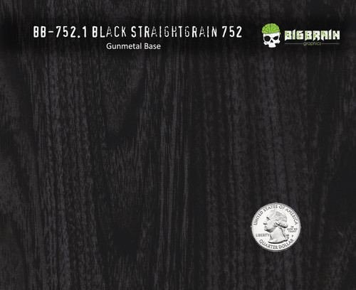 Black Straightgrain Straight Wood Woodgrain 752 Hydrographics Pattern Big Brain Graphics Gunmetal Grey Base Quarter Reference
