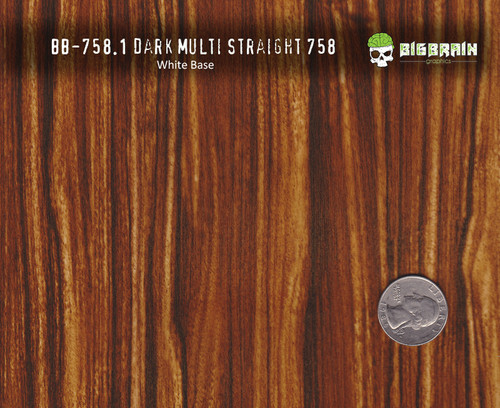 Dark Multi Straightgrain Woodgrain Wood Hydrographics Pattern Big Brain Graphics White Base Size Reference