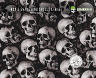Graveyard skulls hydrographics Film Pattern Big Brain Graphics Quarter Reference White Base