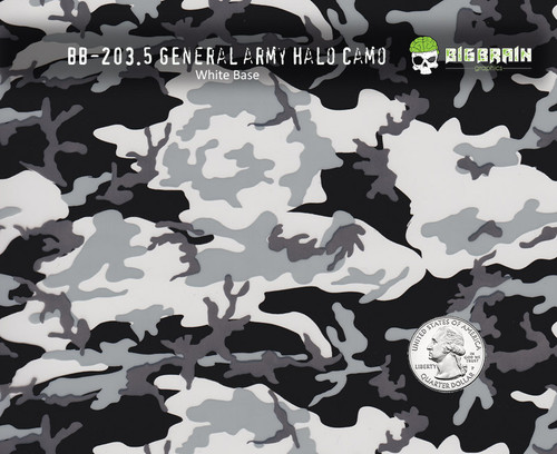 General Army Camo Camoflauge Hydrographics Film Pattern Big Brain Graphics Seller White Base Quarter Reference