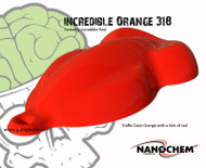 SALE NON-RTS NanoChem Incredible Red-Orange 318 Paint PINT
