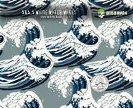 White Waves Japanese Fabric Feel Hydrographics Pattern Style Dipping Film Dip Film Buy Big Brain Graphics USA Seller Nanochem Yeti White Base Quarter Reference