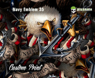 Navy Emblem 35 Armed Forces Navy United States Eagle Custom Printed Film Big Brain Graphics Printing Buy Trusted USA Seller