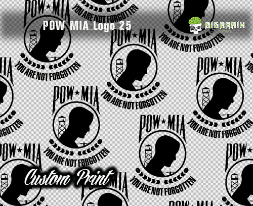 POW MIA Military Support Armed Forces Lost Action Big Brain Graphics Custom Printed Film Printing Logos Designs Big Brain Graphics Trusted USA Seller