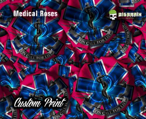 Medical Roses Life Savers Life Saving Star of Life Custom Printed Film Now Selling Custom Hydrographics Printers Big Brain Graphics
