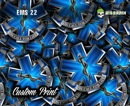 EMS Star of Life Custom Printed Hydrographics Film Customize Your Life Big Brain Graphics Printer for Sale Hydrographics Printers