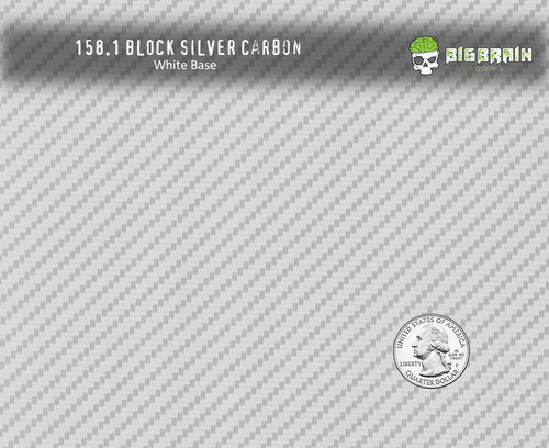Carbon Block Silver Clear Ink Heavy Easy Hydrographics Film Big Brain Graphics Trusted Seller USA NanoChem Yeti White Hydrographics Paint Base Quarter Reference