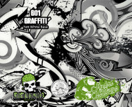 Graffiti Street Artwork Grafitti Spray Paint Artist Hydrographics Film Dip Hydro Film Pattern Big Brain Graphics USA Trusted Seller Nanochem Yeti White Base Quarter Reference