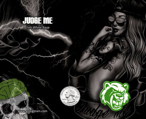 Judge Me Girls Sexy Women Large Scale Pattern Hydrographics Hydrodip Pattern Just for the Guys Rabid Graphics Big Brain Graphics Supplier USA Based Nanochem Yeti White Base Quarter Reference