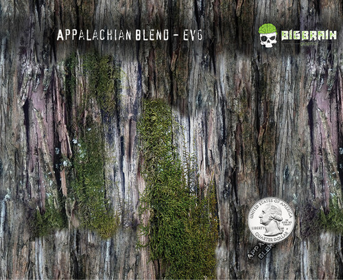 Appalachian Blend EVG Camo Camoflauge Mossy Tree Big Brain Graphics Hydrographics Dip Film Pattern Trusted USA seller