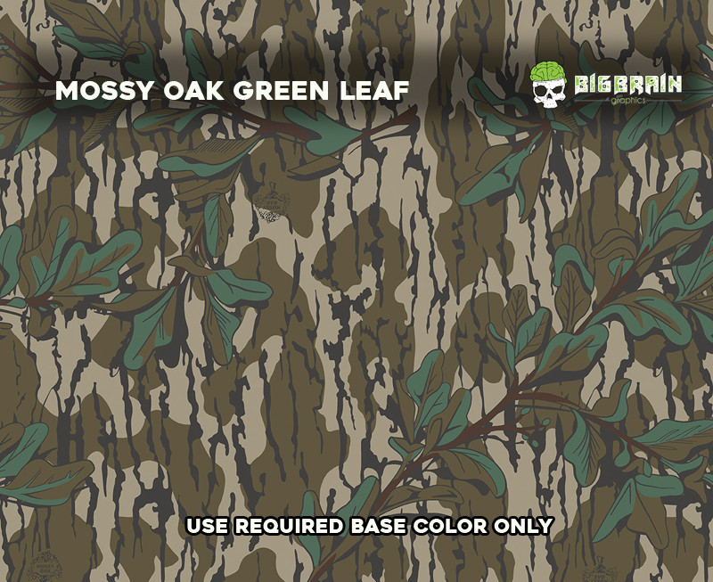 Mossy Oak Green Leaf Camo Camouflage Hydrographics Dip