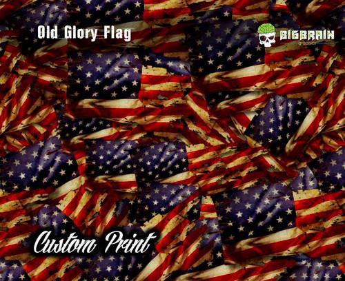 Custom Printed Old Glory Flag Grunge Hydrographics Film Any Size Custom Printed Big Brain Graphics