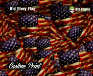 Custom Printed Old Glory Flag Grunge Hydrographics Film Any Size Custom Printed Big Brain Graphics
