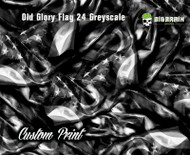 Custom Flag Old Glory 24 Black White Printed Greyscale Black White  Film Hydrographics Film Pattern Big Brain Graphics Hydrographics Printer Custom USA Trusted Seller