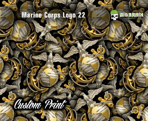 Marine Corps Logo Eagle Globe Anchor Custom Printed Film Hydrographics Dip Printed Armed Forced Hoorah Big Brain Graphics Custom Film