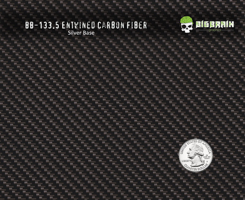 Entwined Carbon Fiber Black Clear Hydroraphics Film Pattern Buy Real Big Brain Graphics Silver Base Quarter Reference