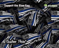 Support the Blue Blue Line Flag Police Support Officer Pride Custom Hydrographics Dip Film Trusted USA Supplier Big Brain Graphics Yeti White Base