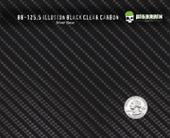 Illusion Carbon Fiber Black Clear Hydrographics Film Pattern Buy Real Big Brain Graphics Silver Base Quarter Reference