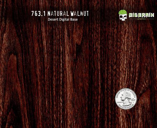 Deep Walnut Natural Woodgrain StraightGrain Hydrographics Dip Film Wood Desert Digital Nanochem Paint Quarter Reference Big Brain Graphics