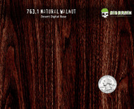 Deep Walnut Natural Woodgrain StraightGrain Hydrographics Dip Film Wood Desert Digital Nanochem Paint Quarter Reference Big Brain Graphics