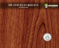 Dark Red Oak Straight Grain WoodGrain Hydrographics Film Pattern Dip Walnut Nanochem Desert Digital Paint Base Quarter Reference