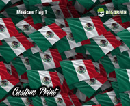 Mexico Mexican Flag Custom Print Size Any Size you Need Hydrographics Print Film Decoration Big Brain Graphics Coatings Trusted Printer Seller