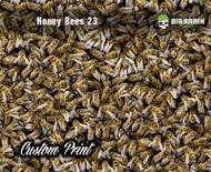 Honey Bees HoneyBees 23 Fractal Camo Patterncrew Seamless Bee Hydrographics Film Printing Big Brain Graphics Coatings Yeti White Base Superbrew Activator
