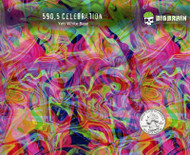 Celebration Colorful Swirl Abstract Translucent Paint Waves Hydrographics Dip Film Pattern Big Brain Graphics Yeti White Base Quarter Reference
