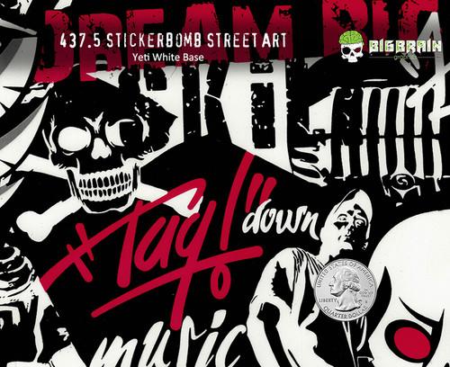 Stickerbomb Street Art Graffiti Tagging Skulls Hydrographics Dip Pattern Film Edgy Real Big Brain Graphics Aqualac Paint Nanochem Yeti White Quarter Reference