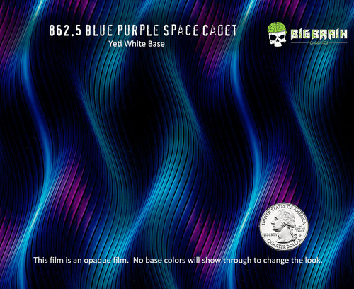 Wavy Abstract Blue Space Cadet Purple Blue Guitar Shoes Dipping Hydrographics Pattern Film Big Brain Graphics Pitch Black Paint Aqualac NanoChem Quarter Reference Base