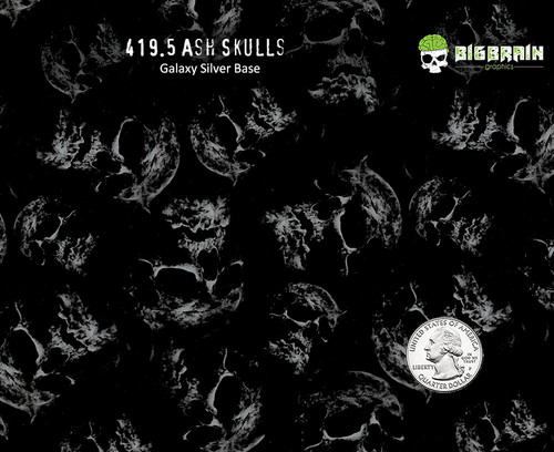 Ash Ashen Skulls Fire Skull Popular Hydrographics Dip Pattern Big Brain Graphics Coatings Paint Galaxy Metallic Silver Quarter Reference Trusted USA Seller