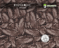 Riveted Steel Metal Rivets Old Looking Hydrographics Film Pattern Buy Big Brain Graphics White Base  Quarter Reference
