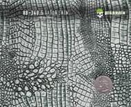 Gator Alligator Crocodile Dragon Reptile Skin Big Brain Graphics Hydrographics Pattern White Base Quarter Size Reference