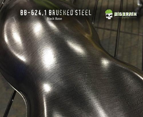 Brushed Steel Aluminum Metal Hydrographics Film Big Brain Graphics Buy Sale