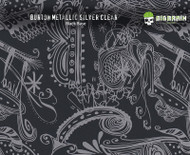 Burton Abstract Metallic Silver Design Hydrographics Film Big Brain Graphics Black with Quarter