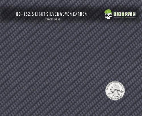 Light Silver Woven Carbon Fiber Pattern Weave 152 WTP Buy Big Brain Graphics Black Base Quarter Reference