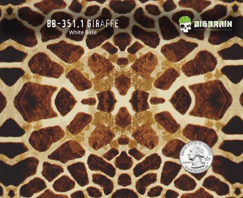 Giraffe 351 Hydrographics Pattern Film Buy Dipping Big Brain Graphics Seller White Base Quarter Reference