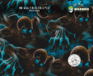 Blue Creeper 454 Hydrographics Pattern Film Buy Dipping Big Brain Graphics Seller White Base Quarter Reference