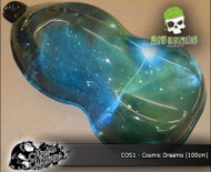 Cosmic Dreams Space Pattern Galaxy Nebula Black Hole Science Fiction Dip Film Hydrographics Film Big Brain Graphics USA Trusted Seller White Base Speed Shape 2